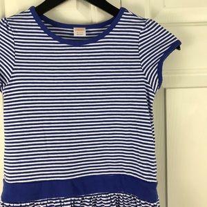 Gymboree Dress Size Medium 7/8 Blue White Stripes
